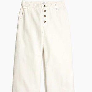 J. crew Wide-Leg Button-Front Pant